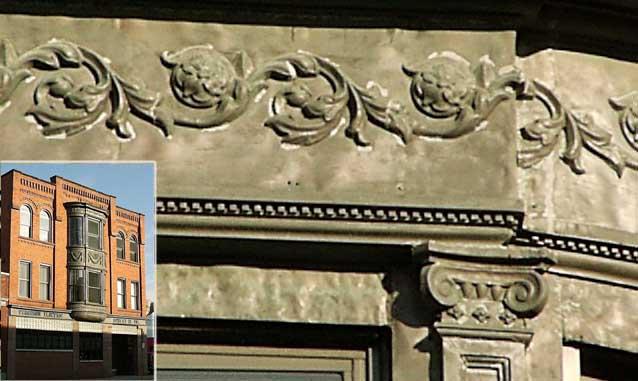 321 Ellicott Street   Scrolling Acanthus Leaves