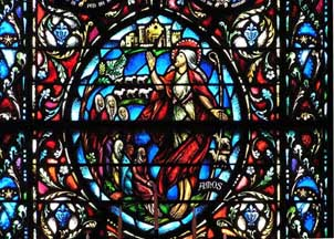Gothic Revival Amos Prophets Window By Charles J Connick Studios Westminster Presbyterian Church