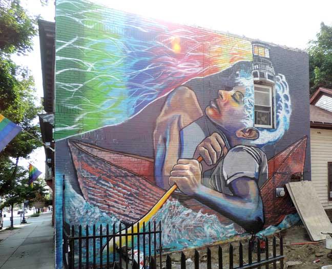 Outdoor murals buffalo new york for Bufflon revetement mural