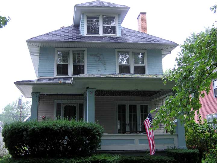 American foursquare for Four square home designs