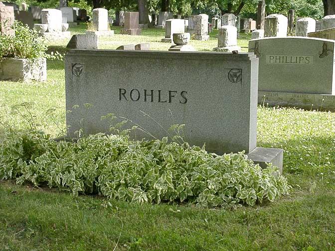 Tombstone of Charles Rohlfs in Buffalo, NY
