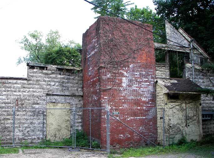 Stucco Over Cinder Block Chimney : Roycroft campus
