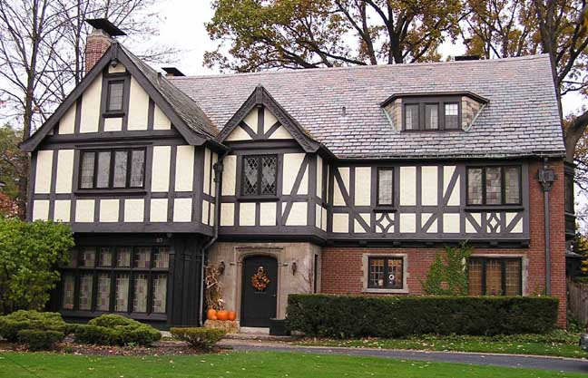 Tudor revival for English style houses architecture