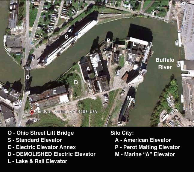 Silo City - Us grain elevator map