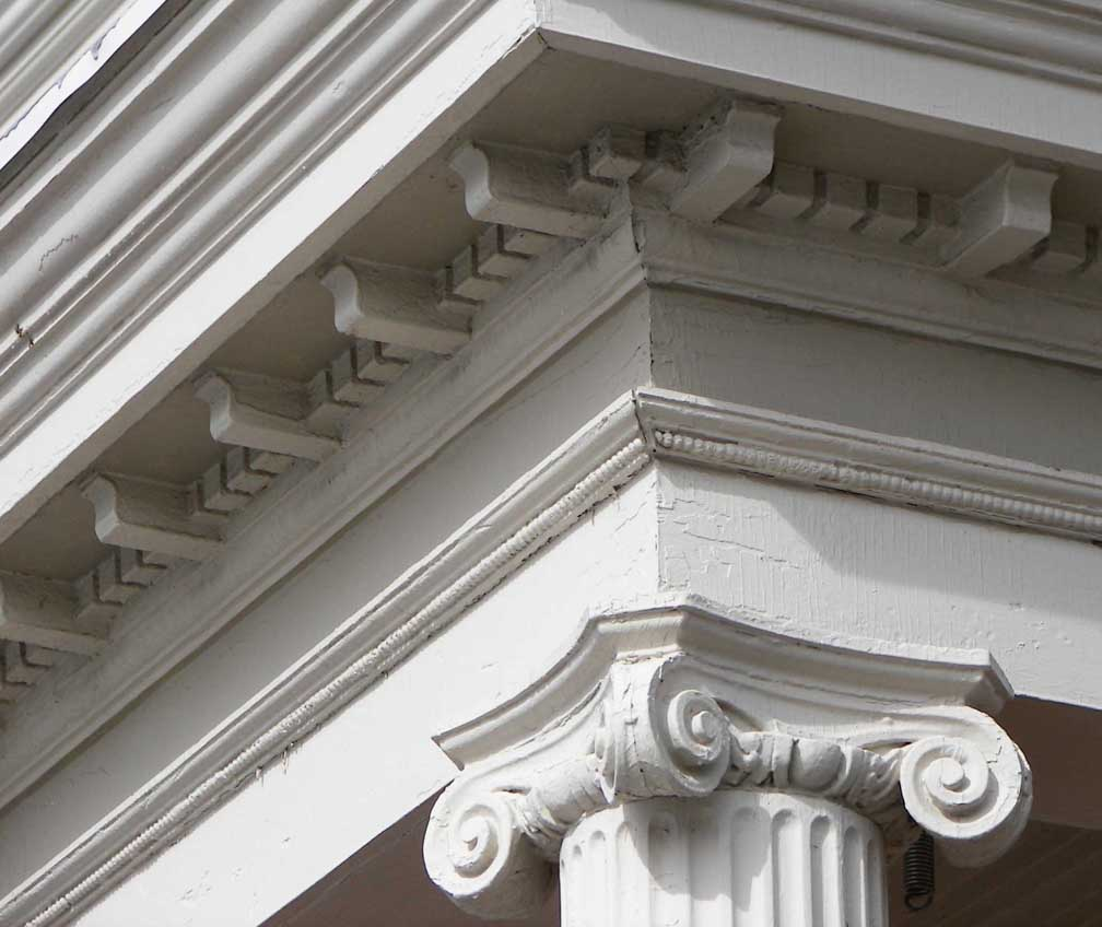 ionic columns and dentil - photo #16