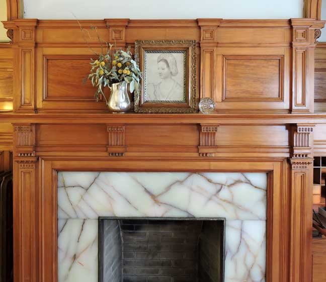 Sarah Check Hearth Cabinet: Inn Buffalo/Off Elmwood
