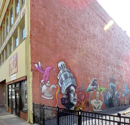 Buffalo mural for Bufflon revetement mural