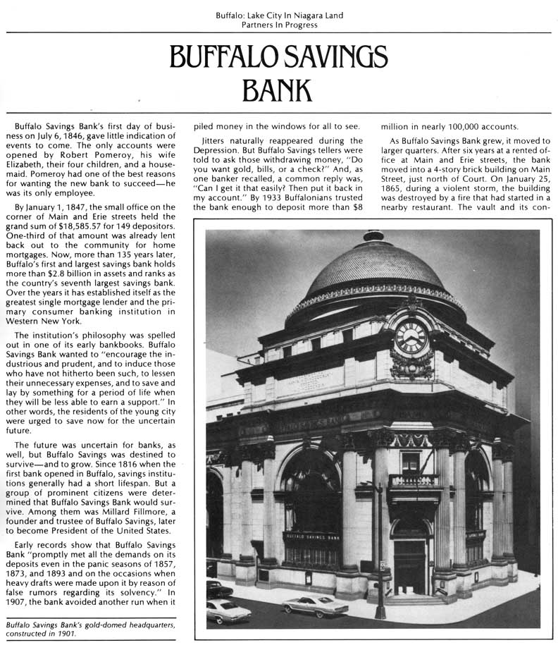 buffalo savings bank New buffalo savings bank is a local community bank in harbor country discover the difference a small bank can bring strong and secure in hometown values.
