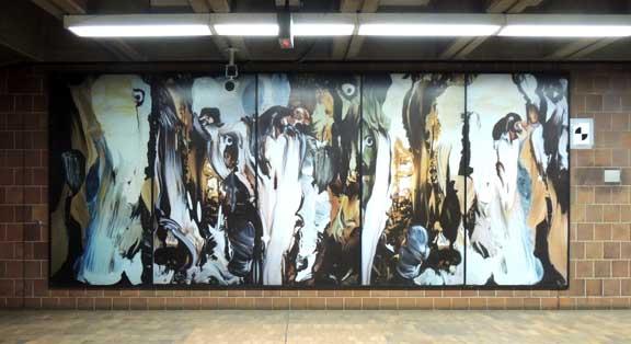 Metro rail stations for Bufflon revetement mural