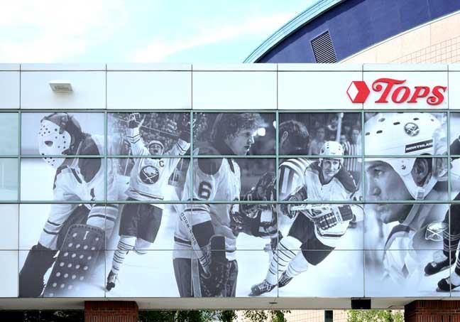 Buffalo sabres arena for Bufflon revetement mural