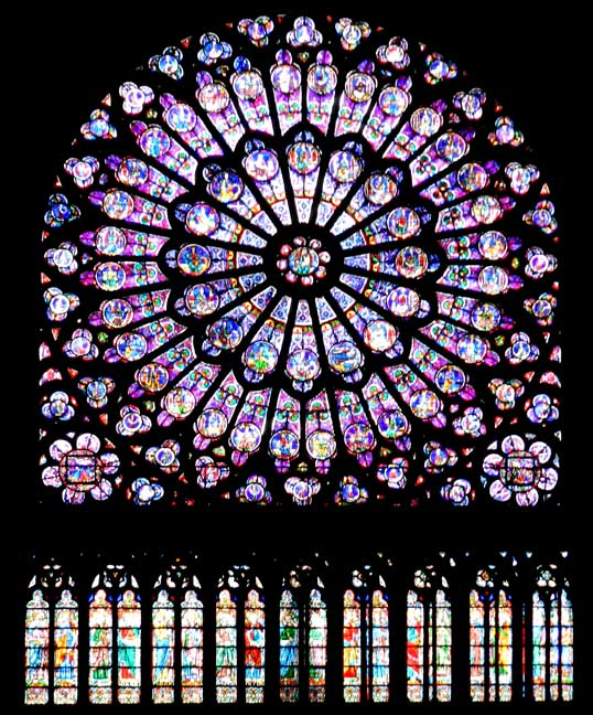 The South Rose Window Symbolises Christ Triumphant Reigning Over Heaven Surrounded By All His Witnesses On Earth