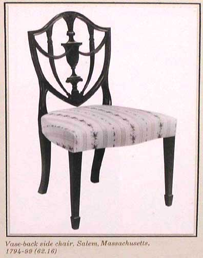 Merveilleux Hepplewhite Style   Vase Back Side Chair ...