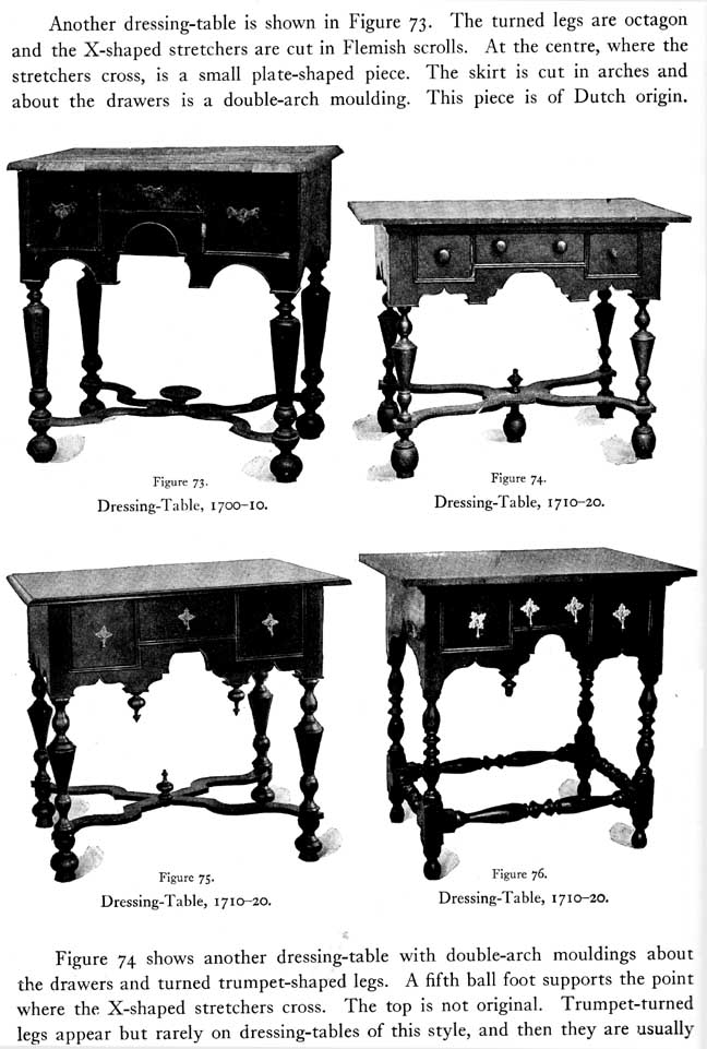 Four Dressing Tables   Luke Vincent Lockwood, Colonial Furniture In  America, ...
