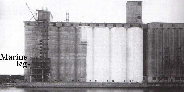 Slip Form Reinforced Concrete Grain Elevators