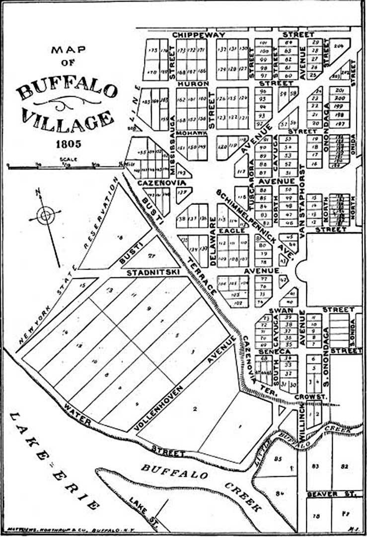 1805 Buffalo Map